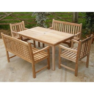Warwick Teak Bench Dining Set