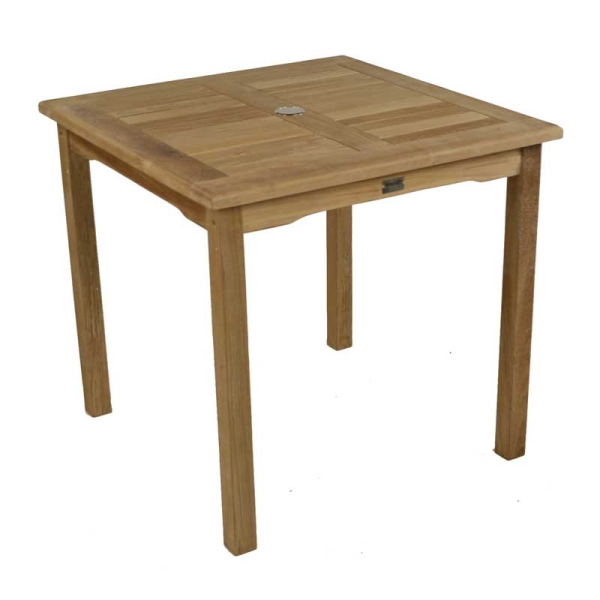 Bistro 80cm Square Teak Table