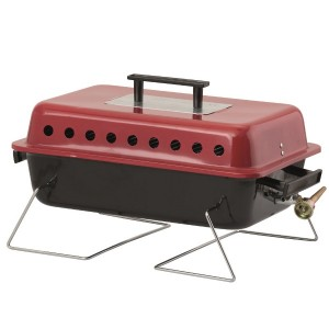 Portable Lava Rock Gas Barbecue