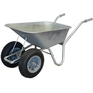 County Carrier Twin Wheel Wheelbarrow
