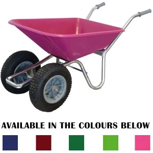 County Clipper Twin Wheel Wheelbarrow