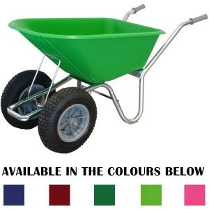 County Cruiser Twin Wheel Wheelbarrow