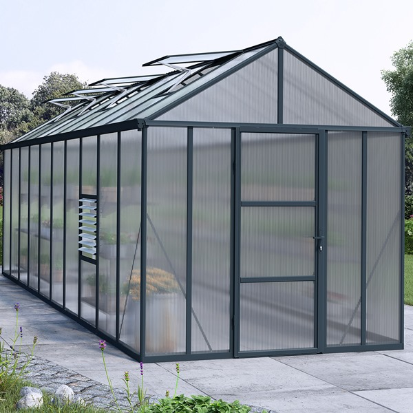 Palram 8 x 20 Anthracite Glory Greenhouse