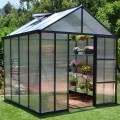 Palram 8 x 8 Anthracite Glory Greenhouse
