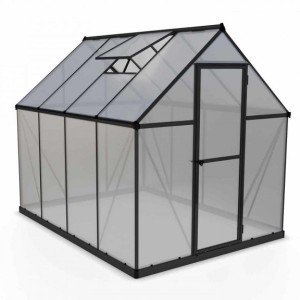 Palram 6 x 8 Mythos Grey Greenhouse