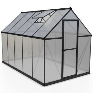 Palram 6 x 10 Mythos Grey Greenhouse