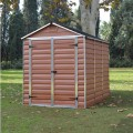 Palram Skylight 6ft x 8ft Plastic Shed - Amber