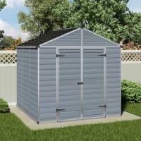 Palram Skylight 8ft x 8ft Plastic Shed - Grey