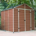 Palram Skylight 8ft x 8ft Plastic Shed - Amber
