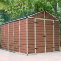Palram Skylight 8ft x 12ft Plastic Shed - Amber