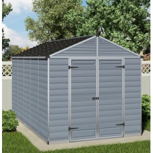Palram Skylight 8ft x 12ft Plastic Shed - Grey