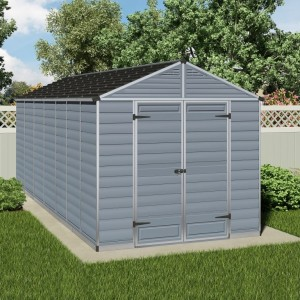 Palram Skylight 8ft x 16ft Plastic Shed - Grey