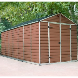 Palram Skylight 8ft x 16ft Plastic Shed - Amber