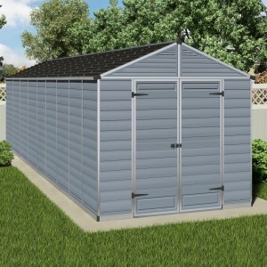 Palram Skylight 8ft x 20ft Plastic Shed - Grey