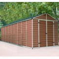 Palram Skylight 8ft x 20ft Plastic Shed - Amber