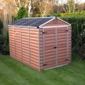 Palram Skylight 6ft x 10ft Plastic Shed - Amber