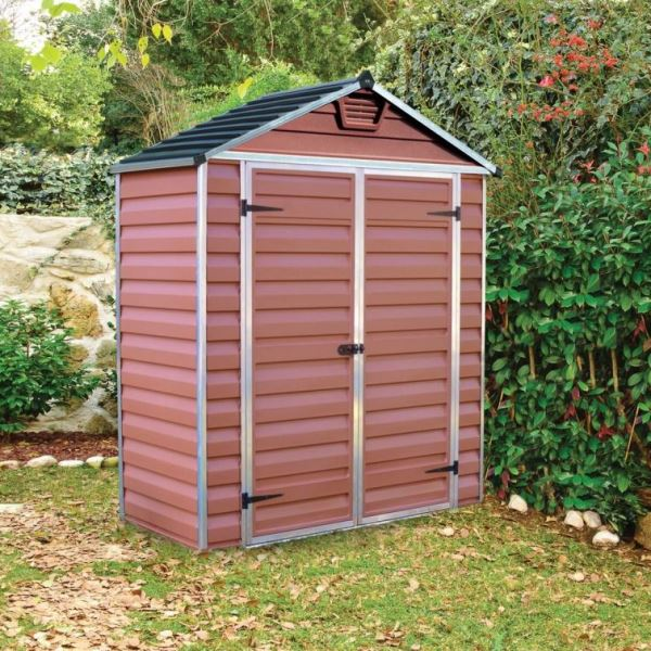 Palram Skylight 6ft x 3ft Plastic Shed - Amber