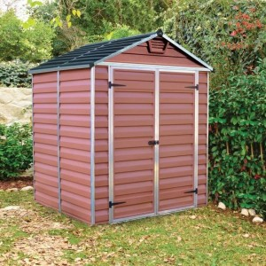 Palram Skylight 6ft x 5ft Plastic Shed - Amber