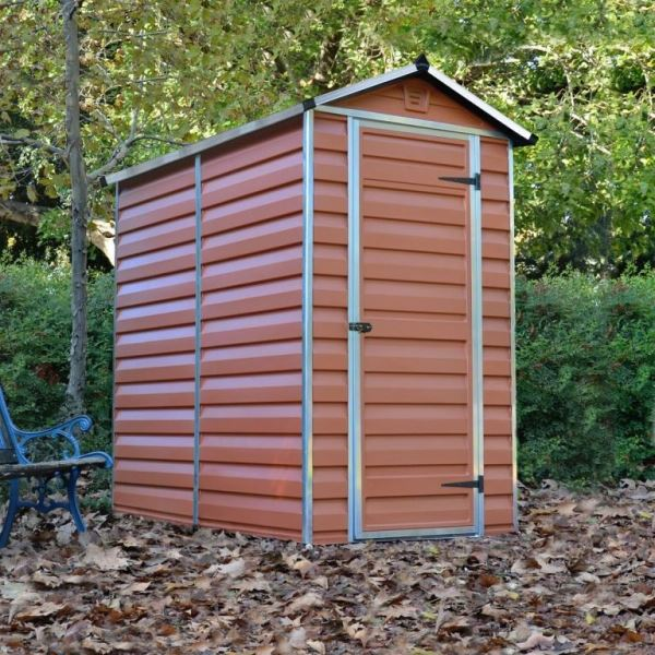 Palram Skylight 4ft X 6ft Plastic Shed Amber