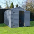 Palram Skylight 6ft x 10ft Plastic Shed - Grey