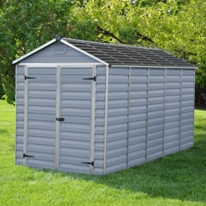 Palram Skylight 6ft x 12ft Plastic Shed - Grey