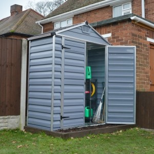 Palram Skylight 6ft x 3ft Plastic Shed - Grey
