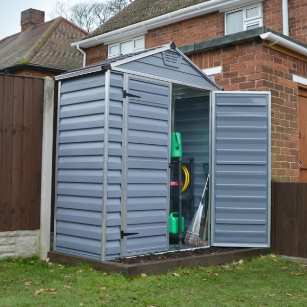 Palram Skylight 6ft X 3ft Plastic Shed Grey