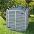 Palram Skylight 6ft x 5ft Plastic Shed - Grey