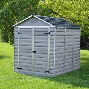 Palram Skylight 6ft x 8ft Plastic Shed - Grey