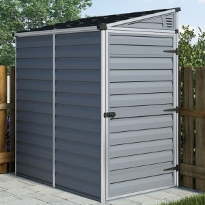 Palram Pent 4ft x 6ft Dark Grey Shed