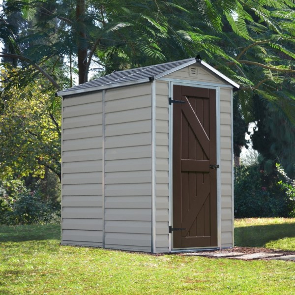 Palram Skylight 4ft x 6ft Plastic Shed - Tan