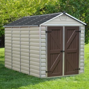 Palram Skylight 6ft x 10ft Plastic Shed - Tan