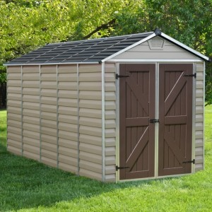 Palram Skylight 6ft x 12ft Plastic Shed - Tan