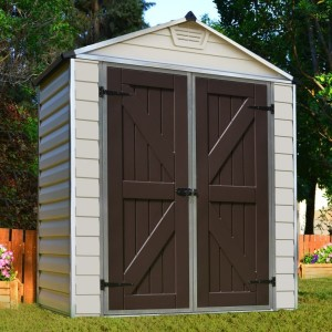 Palram Skylight 6ft x 3ft Plastic Shed - Tan