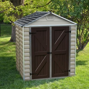 Palram Skylight 6ft x 5ft Plastic Shed - Tan