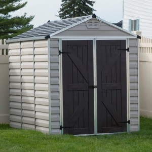 Palram Skylight 6ft x 8ft Plastic Shed - Tan