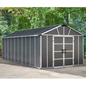 Palram Yukon 11ft x 21.3ft Plastic Shed - Grey