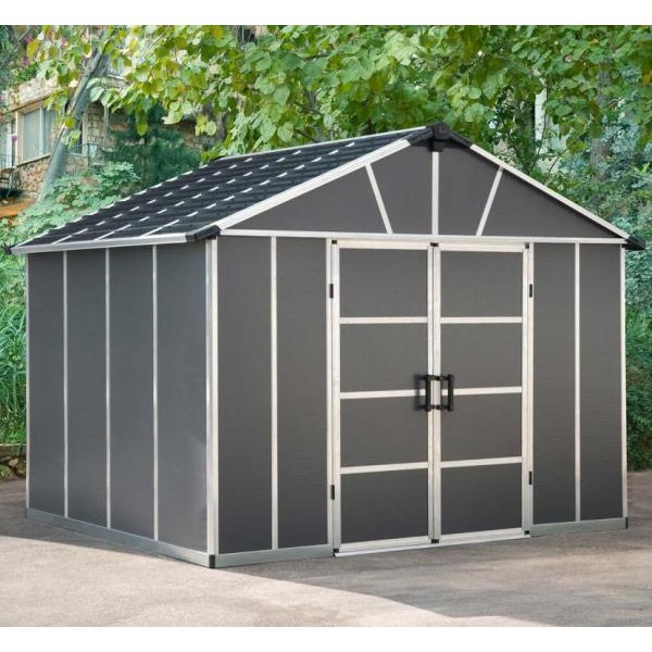 Palram Yukon 11ft x 9ft Plastic Shed - Grey