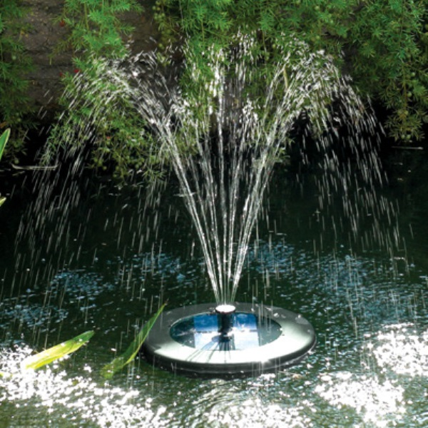 Illuminated Solar Floating Fountain