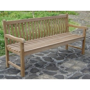 Java 4 Seater Curved Back Teak Bench
