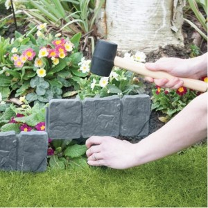 Stone Effect Lawn Edging