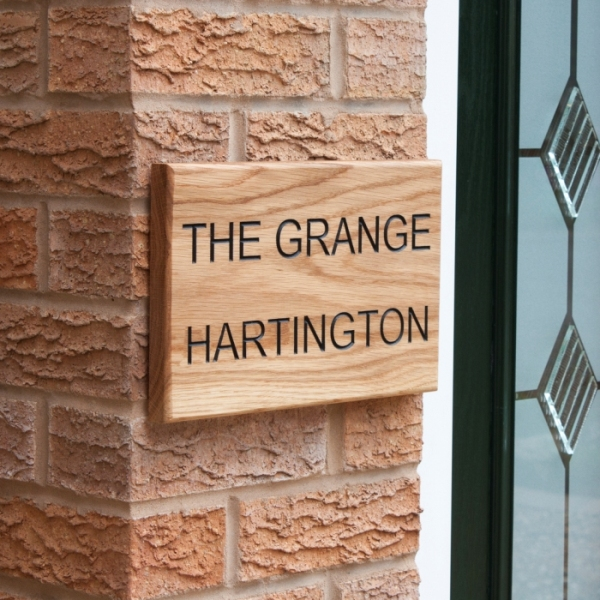 Personalised Oak House Name Sign