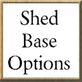 Sapphire 6ft x 4ft Metal Apex Shed - Base Options