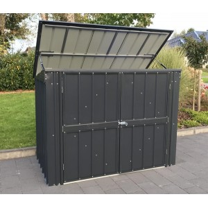 Lotus 7ft x 3ft Triple Bin Store