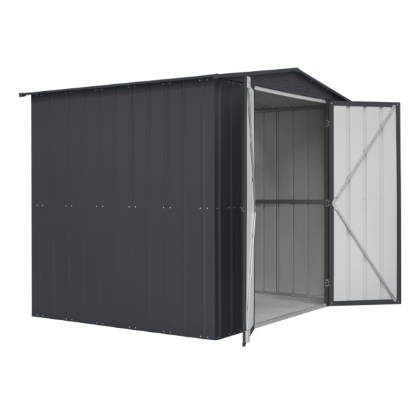 Lotus 8ft x 6ft Metal Double Hinged Door Shed
