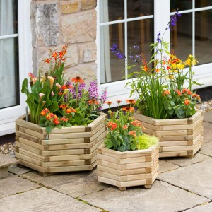 Marford Hexagonal Planter Set of 3