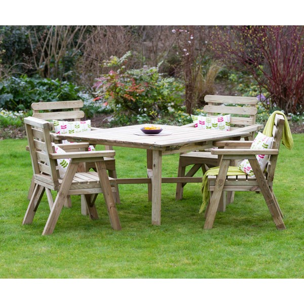 Abbey Square Table & 4 Chair Set
