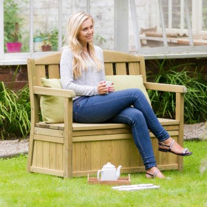 Caroline Garden Bench with Storage Box