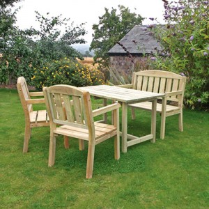 Caroline Table, Bench & Chair Set