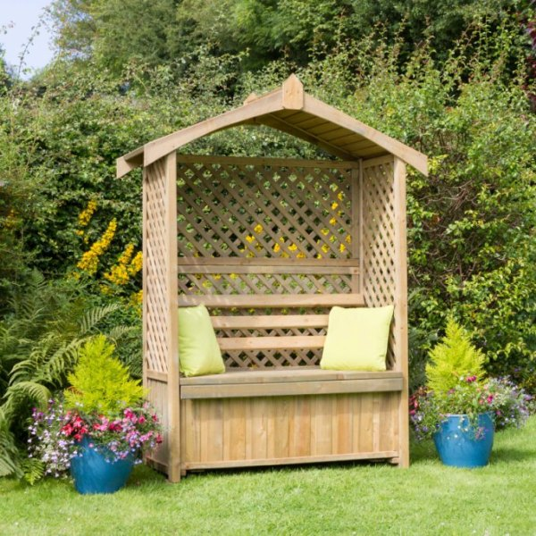 Lincoln Arbour with Storage Box